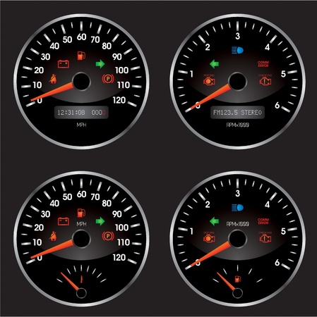 kilometer: Racing car speedometer