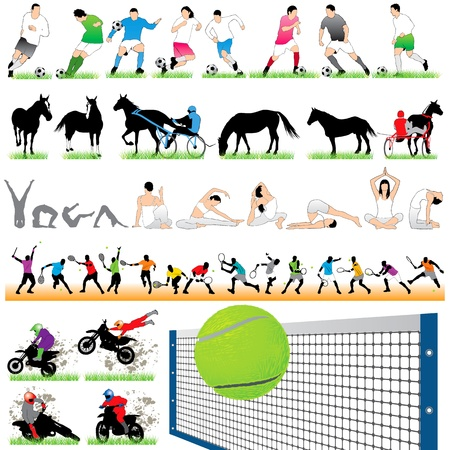 Sport silhouettes set.05 Vector