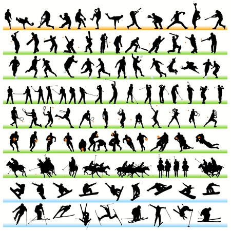 Sport silhouettes set.01 Vector