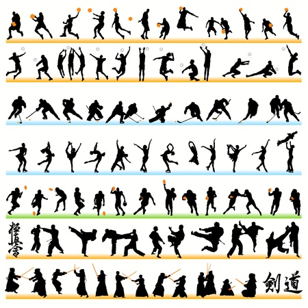 Sport silhouettes set.02 Stock Vector - 9903925