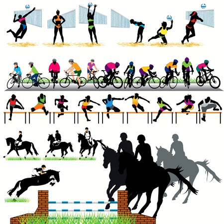Sport silhouettes set.04 Vector