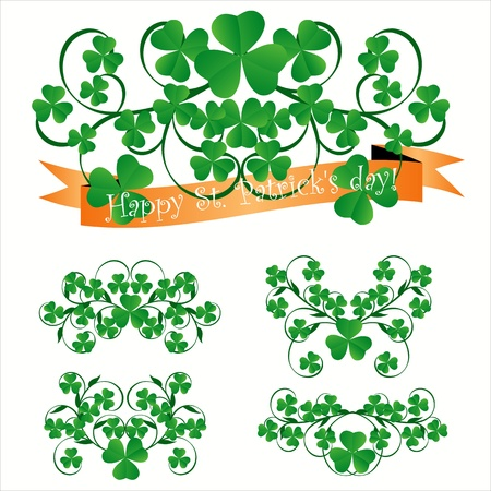 four leafed clover: Tema de D�a de San Patricio