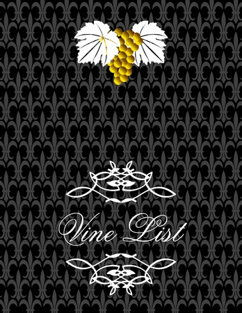 Wine list cover Vector