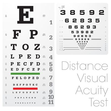 optometria: Odległość testu ostrości wzroku Ilustracja