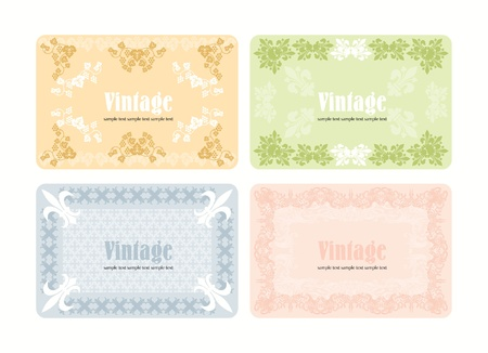 Vintage wine labels set Vector
