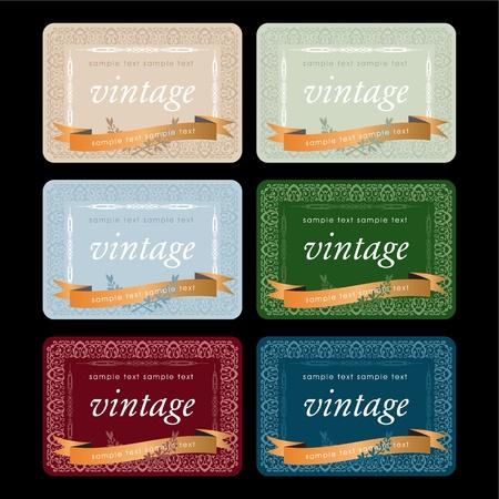 Wine labels design set Vector