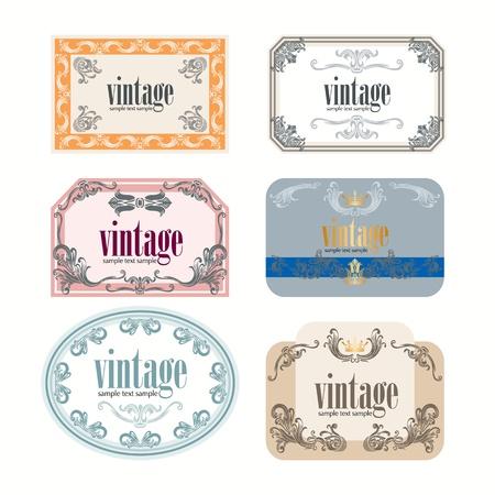 Vintage wine labels set Vector