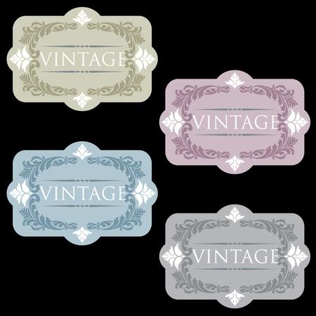 Vintage wine labels set Stock Vector - 9935092