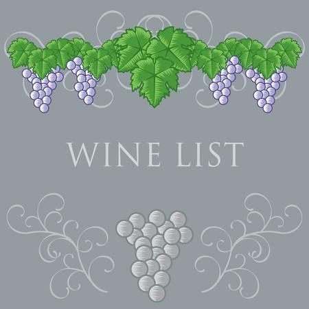 Wine List Cover Design Vector