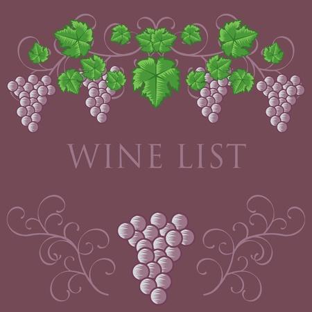 Wine List Cover Design Stock Vector - 9995059