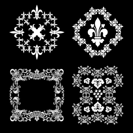aristocrat: Vintage Decorations set Illustration
