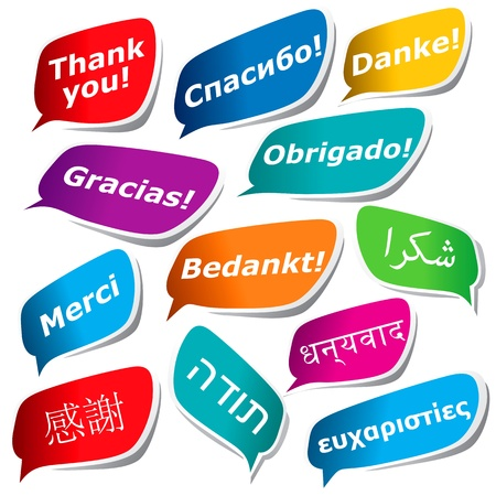 12 ways to say Thank you Vector
