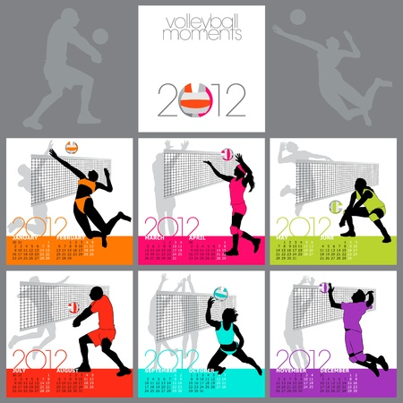 Volleybal Moments 2012 Kalender sjabloon