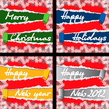 twirled: 4 Christmas and New Year Greeting Cards