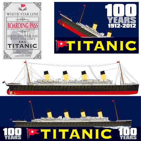 Titanic 100 Years Anniversary Stock Illustratie