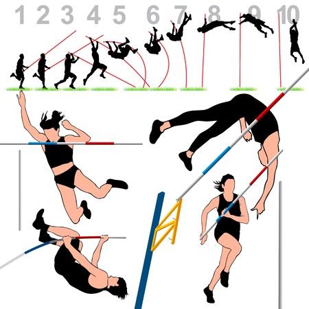 muscle training: Pole Vault atletas Set