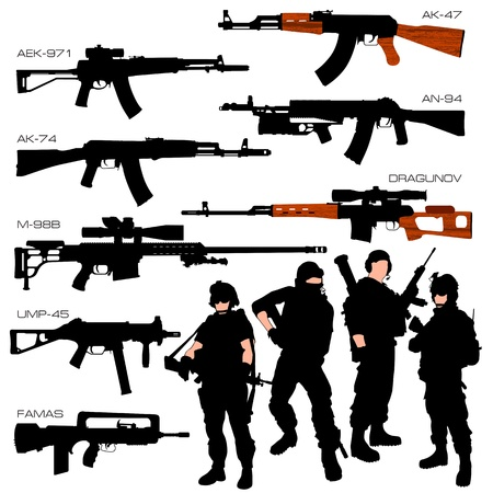Automatic Weapons Set
