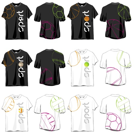 outfits: Sport T-shirts Designs Set