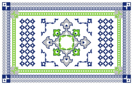 kilim: Arabic Style Carpet Design Illustration