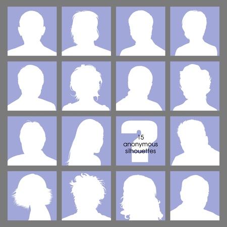 anonyme: R�seaux sociaux Avatars anonyme