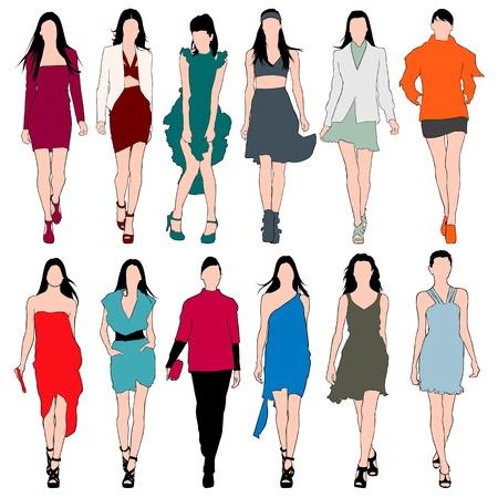 moda urbana: Modelos Moda Silhouettes