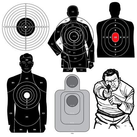 Juego de 6 blancos de tiro