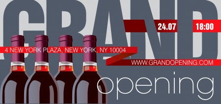 grand sale button: Grand Opening Flyer Template