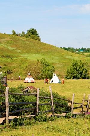 vivienda figurativo de los indios nómadas