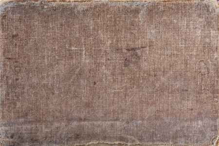 the old cover of book is brown background