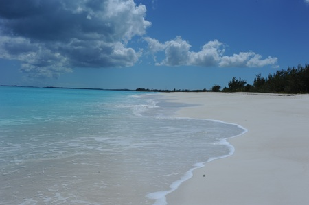 stillness: bahamas beach Stock Photo
