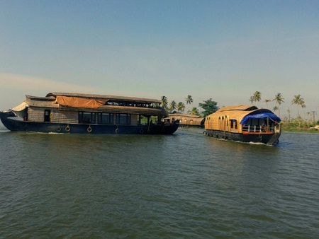 alappuzha: Houseboat in backwater alappuzha Stock Photo