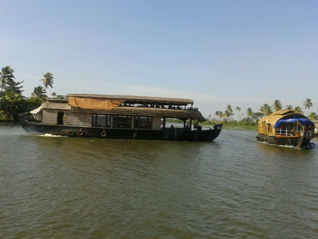 alleppey: House boat in backwaters alleppey