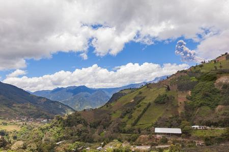 tungurahua: Tungurahua Volcano Located In Central Of Ecuador Has Spewed Up A Column Of Hot Ash And Smoke, South America