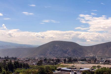 equator: City Mitad Del Mundo Is The Town Where The Equator Line Crosses, South America