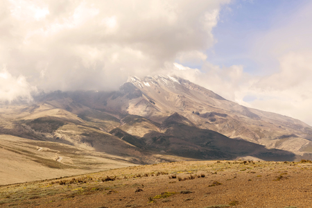 inactive: Chimborazo Volcano, Is A Currently Inactive Strato Volcano In The Cordillera Occidental Range Of The Andes