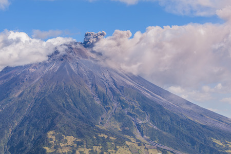 tungurahua: Day Explosion Of Tungurahua Volcano, South America Stock Photo