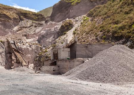 porosity: View Of Limestone Quarry, Mining Technique, South America