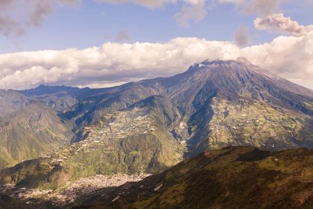 strombolian: Tungurahua Volcano Devastating Explosion, Ecuador, South America Stock Photo