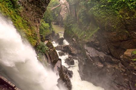 diablo: Pailon Del Diablo, Devils Cauldron Waterfall In Ecuadorian Rainforest, Ecuador, South America