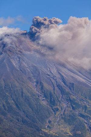 Powerful Day Explosion Of Tungurahua, Is An Active Strato Volcano Located In The Cordillera Oriental Of Ecuador