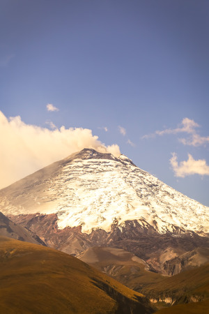 volcano slope: Cotopaxi Is One Of Ecuador Most Active Volcanoes, South America