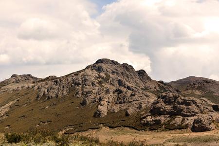 columbian: Pre Columbian Ruins In National Park Sangay, South America Stock Photo