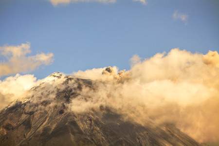 tungurahua: Plume Of Ash And Steam From The Tungurahua Volcano, South America
