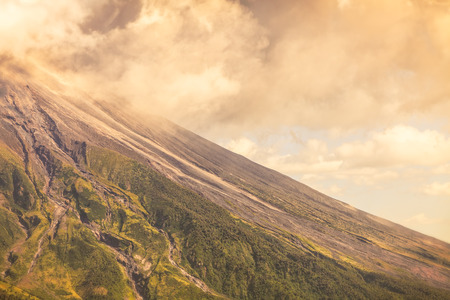 strombolian: Close Up Of Tungurahua Volcano Day Explosion, South America Stock Photo