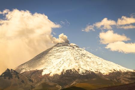 spews: Ecuador highest active volcano, the Cotopaxi, spews ash and smoke, South America