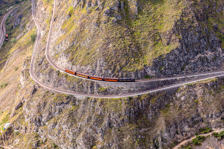 nose: Devils Nose, Nariz Del Diablo, Ecuador, South America, Touristic Train Trip, Route Through The Andes Mountains