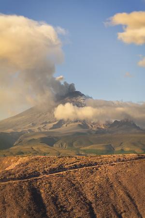 erupt: Cotopaxi Volcano Violent Day Explosion, South America