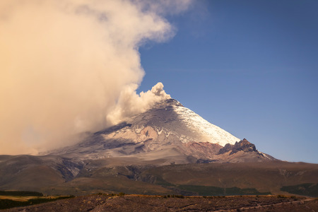 plume: Plume Of Ash And Steam From The Cotopaxi Volcano, South America
