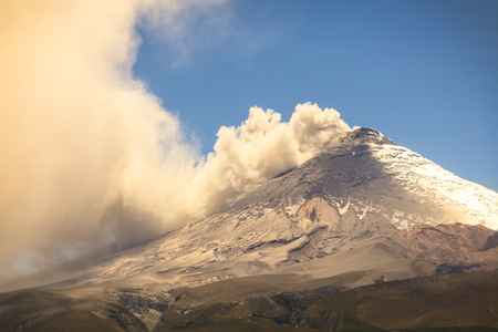 crater highlands: Cotopaxi Volcano, Has One Of The Few Equatorial Glacier In The World, South America