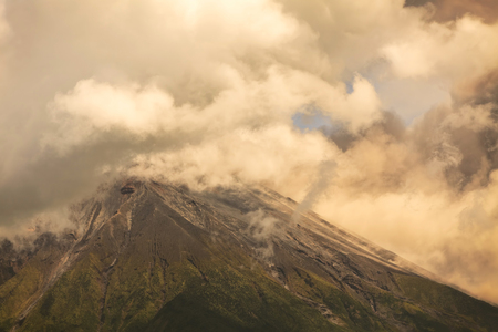 tungurahua: Bursts Of Ash And Gas From Ecuador Tungurahua Volcano, South America Stock Photo